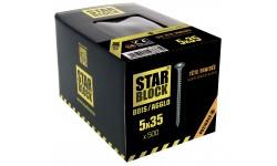 Vis bois et agglomérés - 5x35 - PZ - boite de 500 STARBLOCK